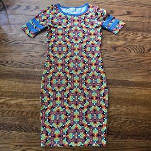 Lularoe | Julia XXS Geometric Print Pencil Dress